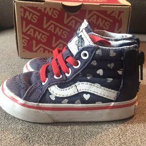 Vans toddler sk8-Hi zip hearts skate shoes